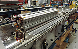 This accelerator magnet made of niobium-3-tin produced a record field of 11.5 Tesla.