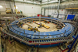 The superconducting magnet of the  Muon g-2 experiment.